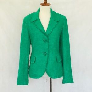 Lafayette 148 New York Green Tweed Blazer